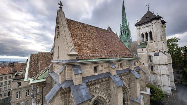 La Cathédrale Saint-Pierre de Genève. [Martial Trezzini - KEYSTONE]