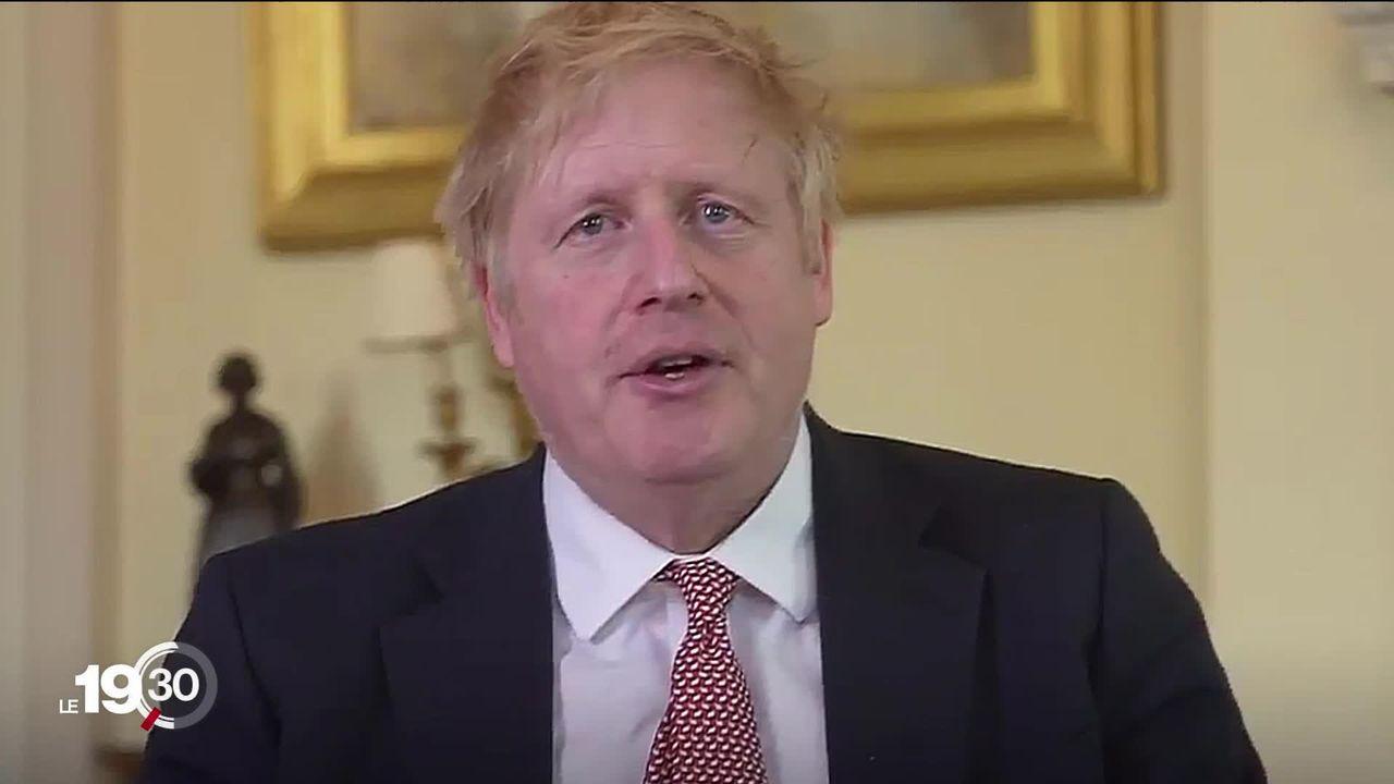Sorti des soins intensifs, Boris Johnson salue le rôle du personnel soignant. Dans cette crise, il joue son crédit politique. [RTS]