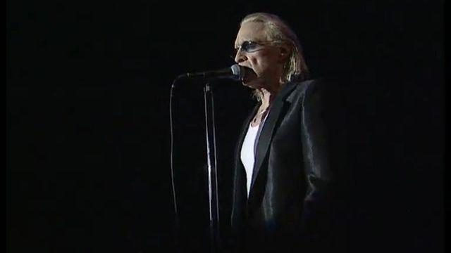 Le chanteur Christophe aux Francomanias de Bulle en 2002. [RTS]