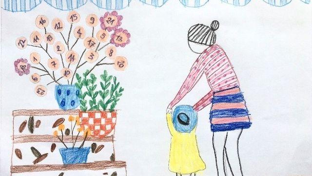 """""""Cʹest quoi la trisomie?"""" dessin réalisé par Ella. [Ella - RTS]"""