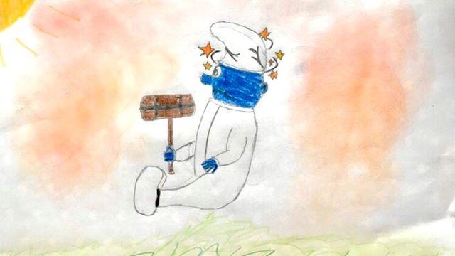 """""""Pourquoi on a mal?"""" dessin réalisé par Elio. [Elio - RTS]"""