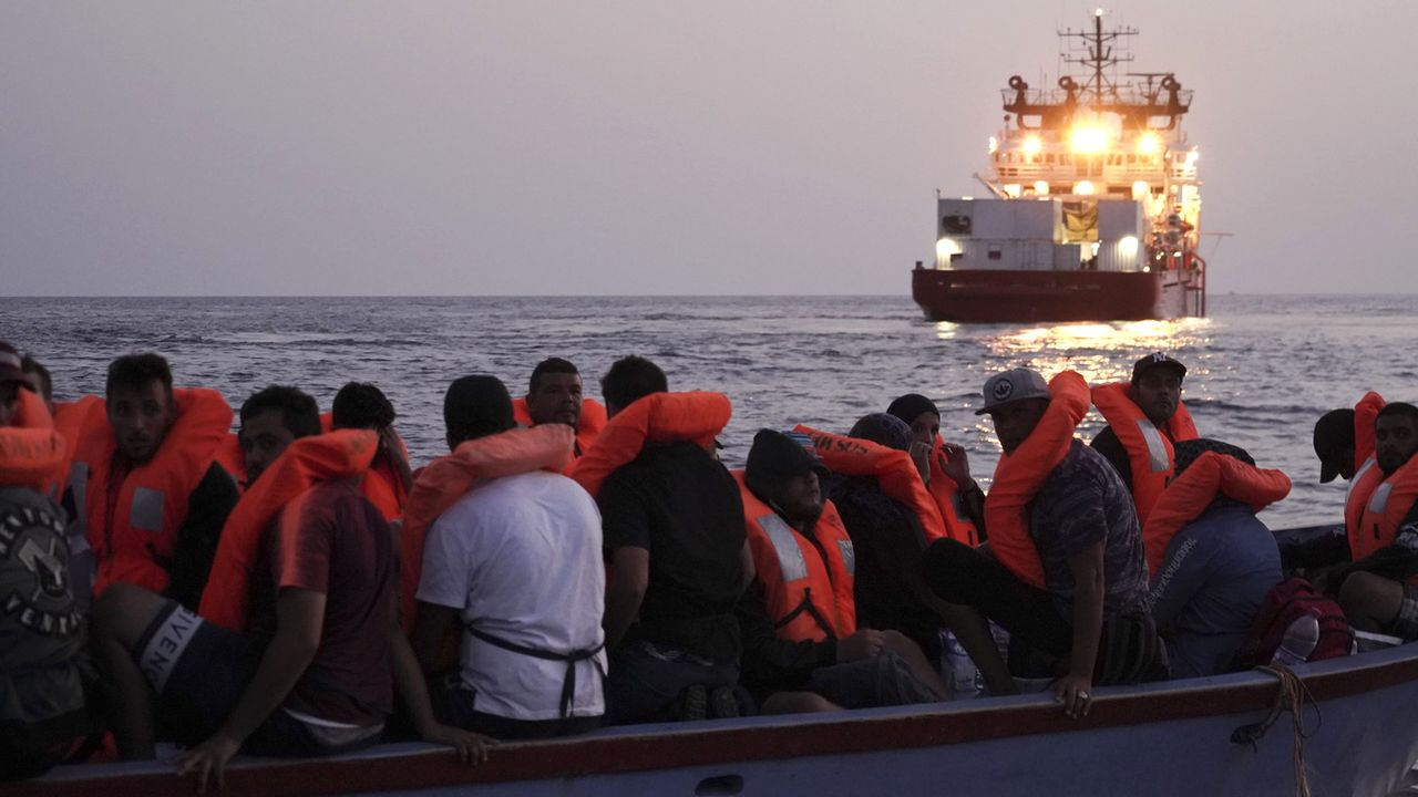 Le navire Ocean Viking (SOS Méditerranée) au large de Malte en septembre 2019. [Renata Brito - AP/Keystone]