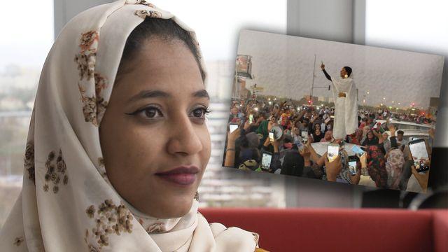 Alaa Salah interviewée par la RTS. [RTS]