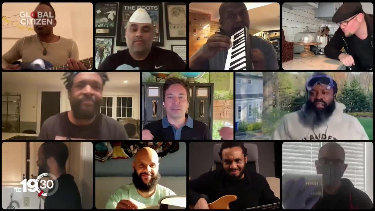 """Des stars du monde entier ont donné hier un concert intitulé """"One World : together at home"""" pour récolter des fonds pour l'OMS [RTS]"""