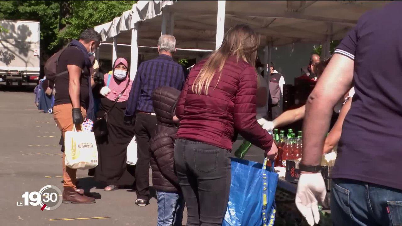 En France la solidarité s'organise pour porter secours aux familles dans le besoin [RTS]