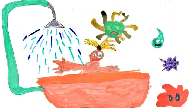 """""""Pourquoi se laver"""" dessin réalisé par Zoé. [Zoé - RTS]"""