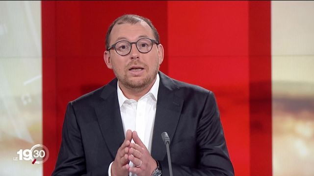"""Antoine Silacci """"Les parlementaires ne sont pas opposés à une application de traçage, mais ils veulent des garde-fous. [RTS]"""