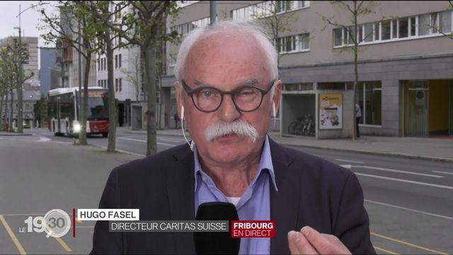 """Hugo Fasel: """"Nous appelons le Conseil fédéral à introduire des paiements directs pour les familles précaires"""" [RTS]"""