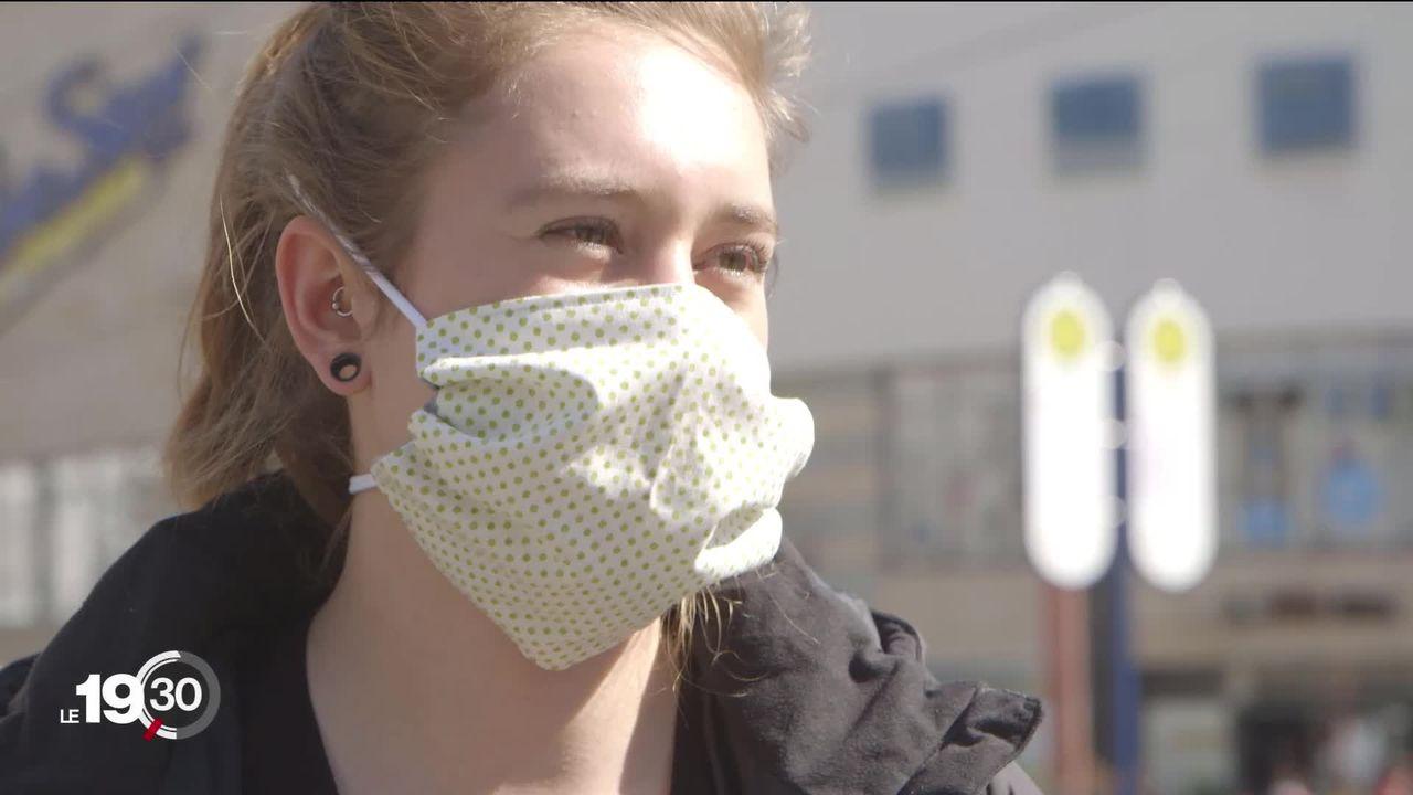 Iéna, en Allemagne, a généralisé le port du masque début avril et fait désormais office d'exemple pour le reste du pays [RTS]