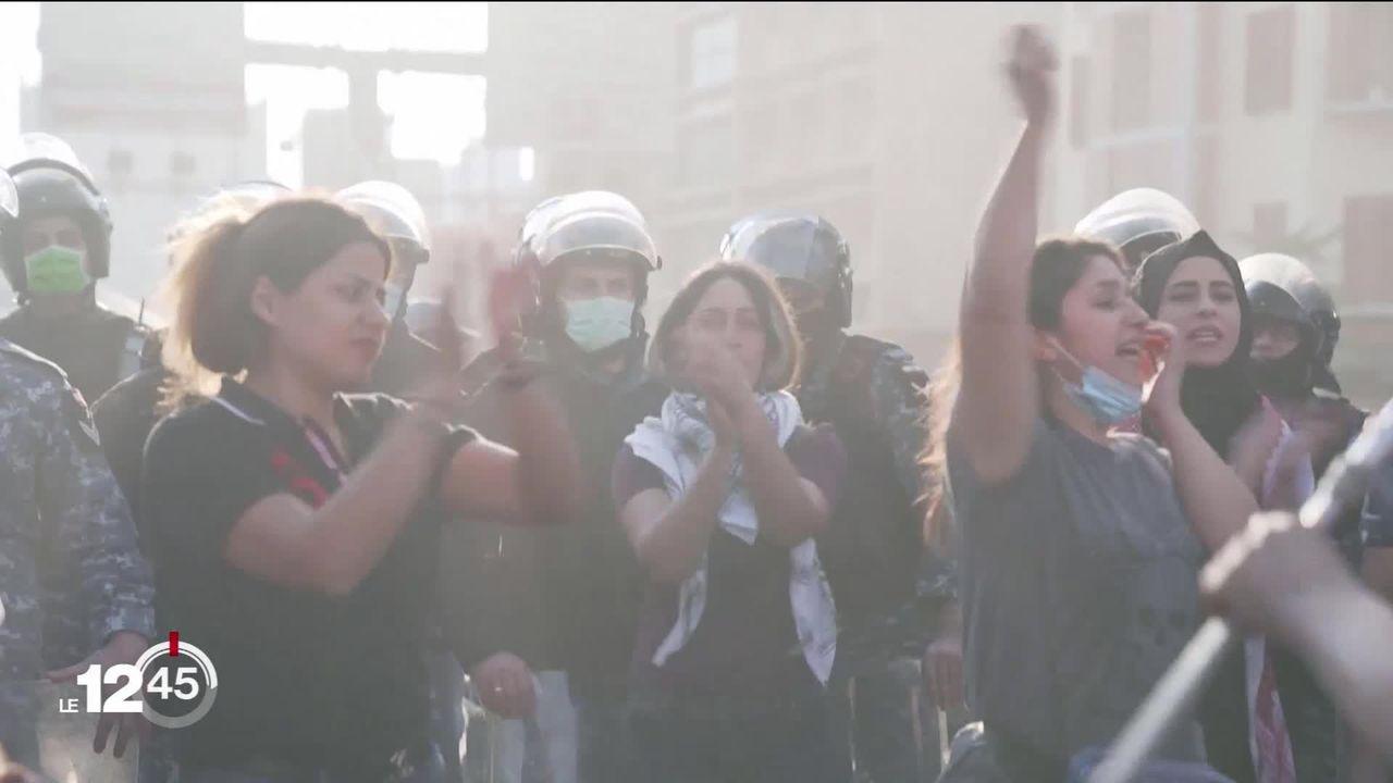 Plusieurs manifestations et affrontements au Liban en raison de la crise économique. [RTS]