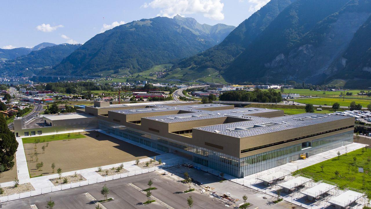 L'Hôpital Riviera-Chablais de Rennaz se trouve dans une situation financière catastrophique moins d'un an après son inauguration. [Leandre Duggan - Keystone]