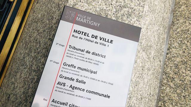 Hôtel de ville de Martigny. [Karine Vasarino - RTS]