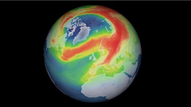 Extension du vortex polaire pendant l'hiver 2019-2020 [ESA]