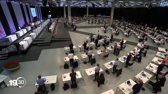 Session extraordinaire: les parlementaires fédéraux siègent durant une semaine à Bernexpo. [RTS]