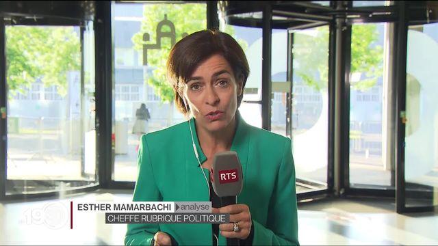 Esther Mamarbachi analyse la reprise aux affaires du Parlement fédéral dans des circonstances exceptionnelles [RTS]