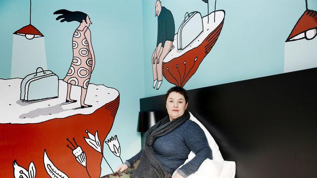 La dessinatrice Albertine en 2018. [Magali Girardin - Keystone]