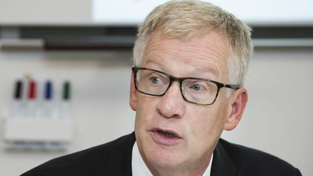 Jean-Pierre Siggen, chef du Département fribourgeois de l'instruction publique. [Jean-Christophe Bott - Keystone]