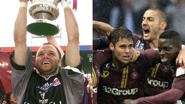 La victoire de Servette en Coupe en 2011 ou la remontée en Super League en 2011? A vous de choisir! [Gillieron/Di Nolfi - Keystone]