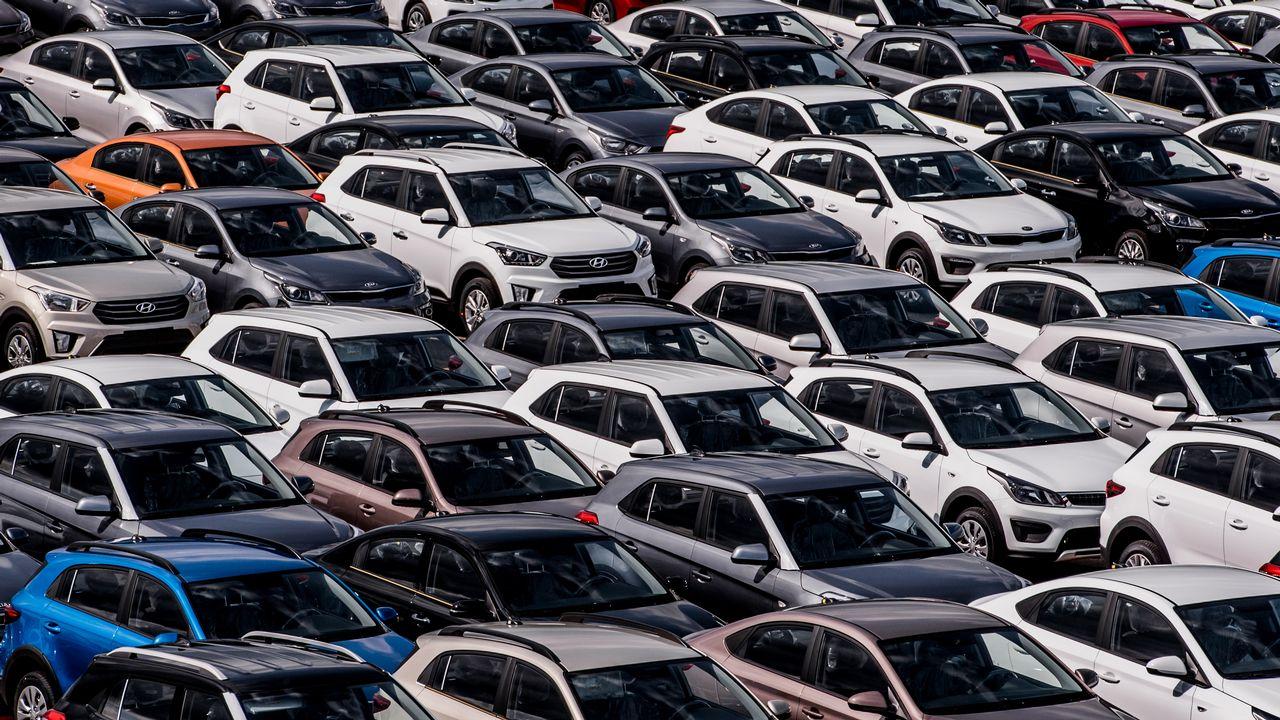 Une usine Hyundai à Saint Pétersbourg, en Russie, en août 2019. [Alexei Danichev - Sputnik]