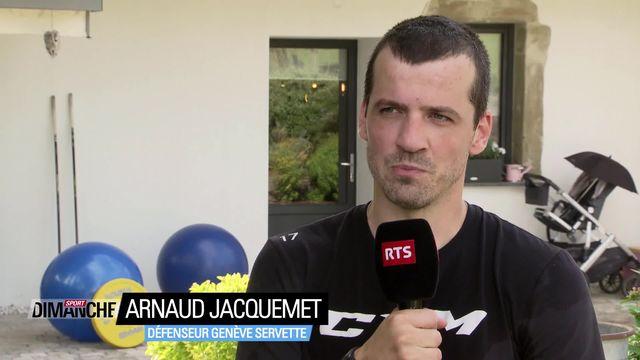 Hockey: Arnaud Jacquemet, quotidien d'un sportif confiné [RTS]