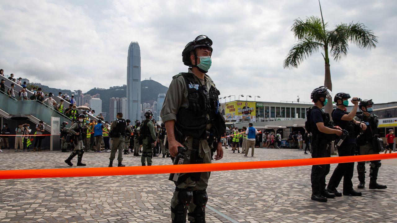 La police a arrêté 230 personnes ce week-end à Hong Kong. [EPA/Jerome Favre - Keystone]