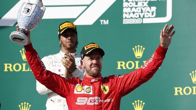 Même s'il pilote chez Ferrari depuis cinq ans, Sebastian Vettel a connu ses meilleures années chez Red Bull. [Laszlo Balogh - AP]