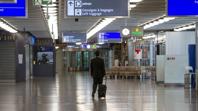 L'aéroport de Genève est vide, ou presque, en ce printemps 2020. [Salvatore Di Nolfi - Keystone]