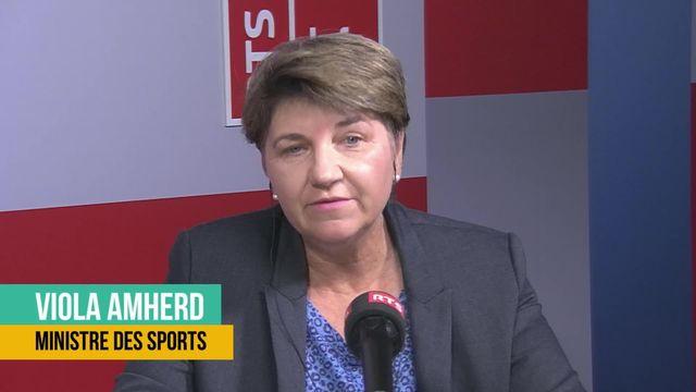 La Confédération versera 500 millions pour le sport: interview de Viola Amherd [RTS]