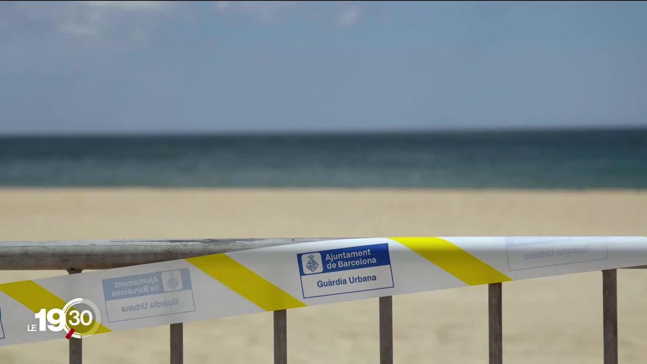 Le tourisme espagnol est aux soins intensifs depuis le 13 mars. L'inquiétude est vive à Barcelone. [RTS]
