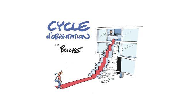 Affiche de Buche dessinée pour stop-covid.org destinée aux élèves du Cycle d'orientation. [Buche - HUG / stop-covid.org]
