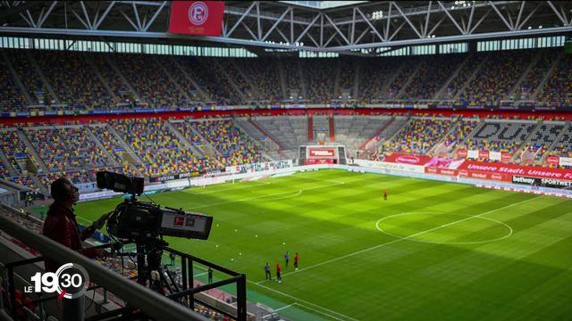 Le Championnat d'Allemagne a repris dans des conditions particulières. [RTS]