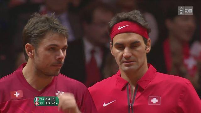 Coupe Davis 2014: la Suisse remporte le double de la finale [RTS]
