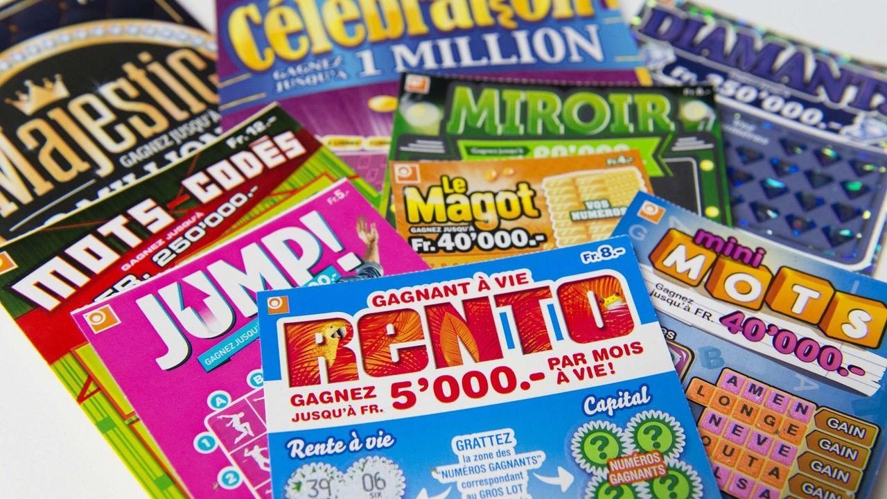 Un ensemble de billets à gratter de la Loterie romande. [Thomas Delley - Keystone ]