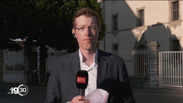 """Julien Chiffelle au tribunal de Thonon-les-Bains """"Je ne sais pas, je ne me souviens plus, les prévenus nient en bloc."""" [RTS]"""