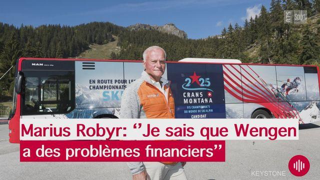 """Ski: """"Je sais que Wengen a des problèmes financiers"""", explique Marius Robyr (président du comité d'organisation des épreuves féminines de Crans-Montana) [RTS]"""