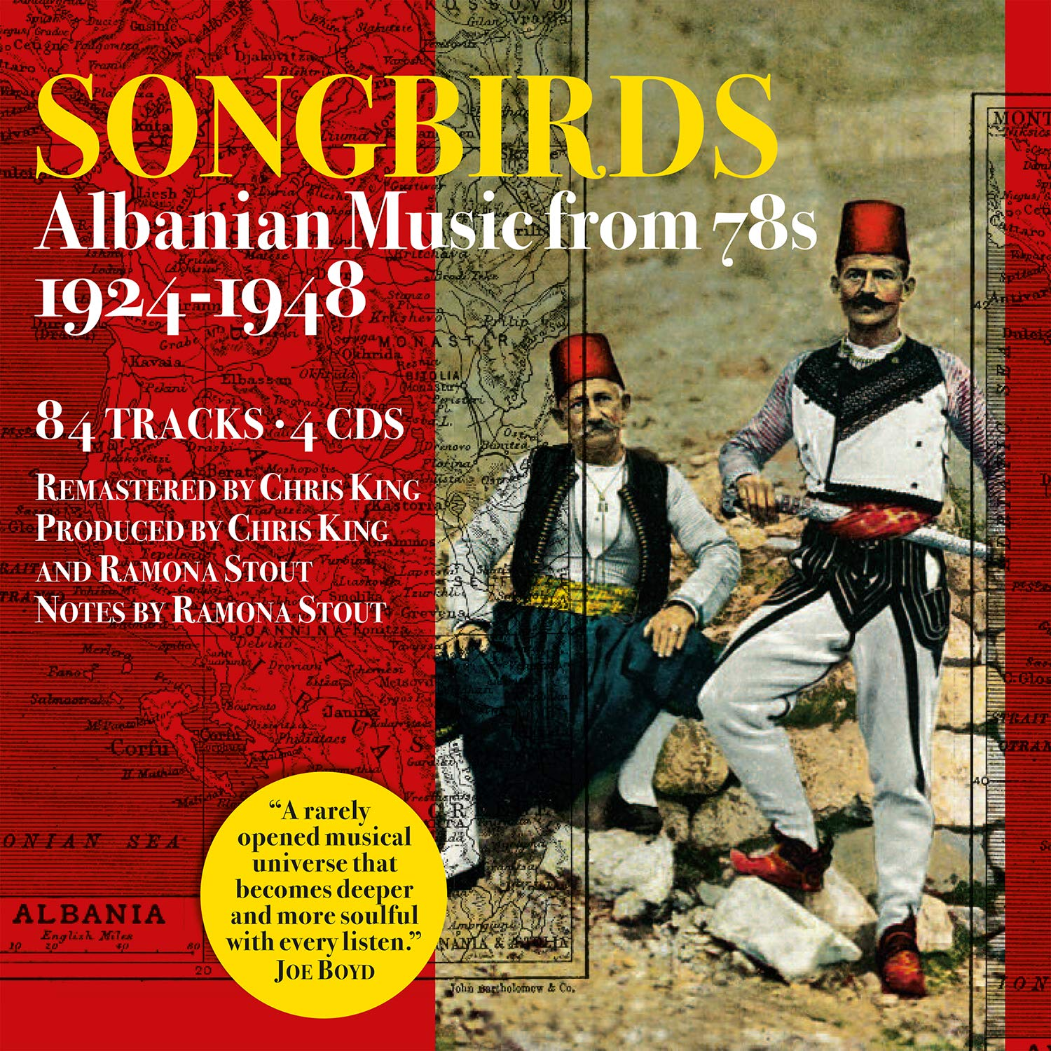 "La pochette de ""Songbirds. Albanian Music from 78s 1924-1948""."