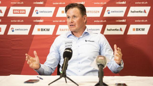 Urs Lehmann s'est exprimé lors d'une conférence de presse vendredi. [Ennio Leanza - Keystone]