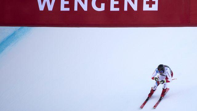 A l'image de Mauro Caviezel, les stars du ski rêvent toutes de continuer à skier à Wengen. [Peter Klaunzer - Keystone]