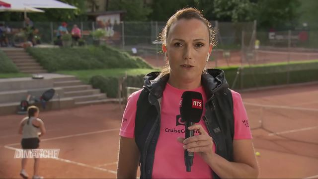 Duplex avec Joëlle Beaubiat depuis le Club de Tennis de Neuchâtel [RTS]