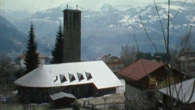 L'église du Plateau d'Assy en 1979 [RTS]