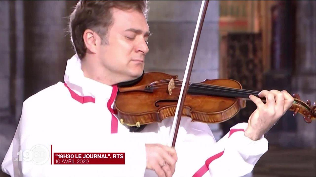 Le violoniste Renaud Capuçon succèdera à Joshua Weilerstein à la tête de l'Orchestre de chambre de Lausanne, l'OCL, dès 2021. [RTS]