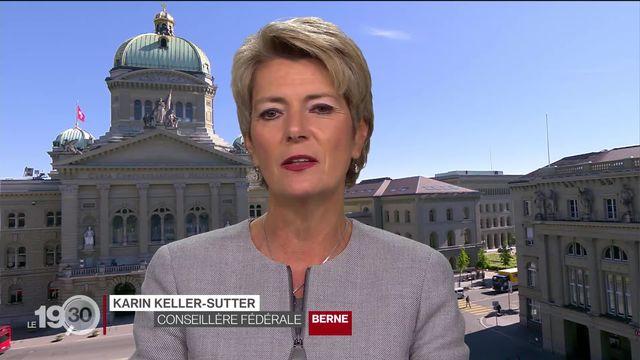 """Karin Keller-Sutter: """"C'est un pas que l'on fait. Nous ne sommes pas encore au bout, mais nous regagnons nos libertés."""" [RTS]"""