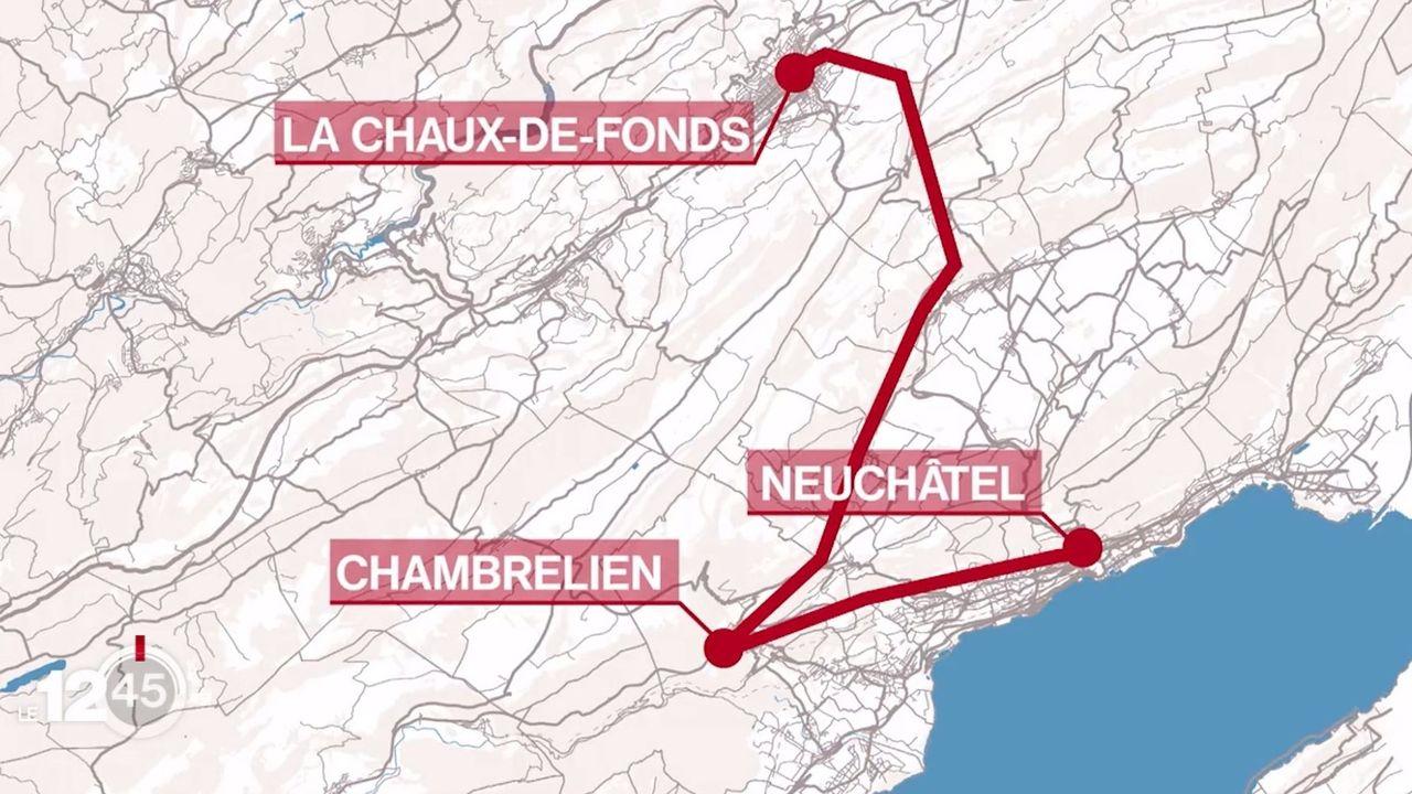 Le trafic ferroviaire entre Neuchâtel et la Chaux-de-Fonds va être interrompu durant huit mois l'année prochaine. [RTS]