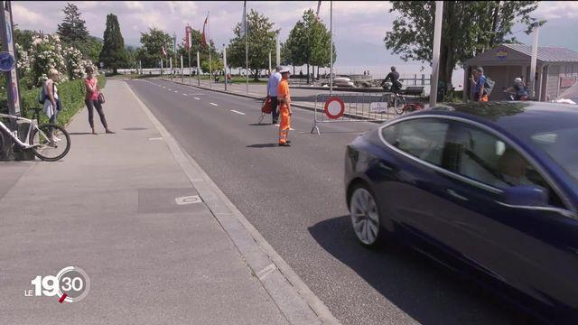 Lausanne et Vevey interdisent l'accès aux quais aux voitures: les bords du lacs sont pris d'assaut - Vidéo - Play RTS