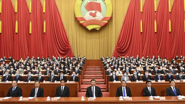 La session plénière annuelle de l'assemblée nationale populaire chinoise, le 21 mai 2020 à Pékin. [Li Xueren - AP/Keystone]