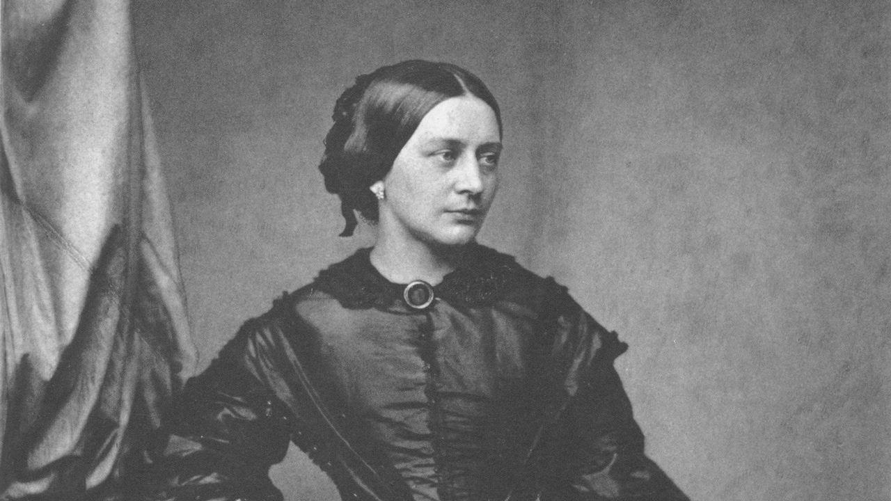 Clara Schumann autour de 1850 [Franz Hanfstaengl - Wikipedia]