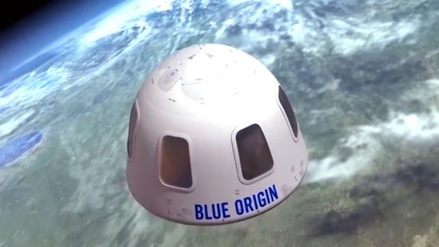 La capsule de Blue Origin qui devrait emmener des touristes dans l'espace. [Blue Origin - Keystone/AP]