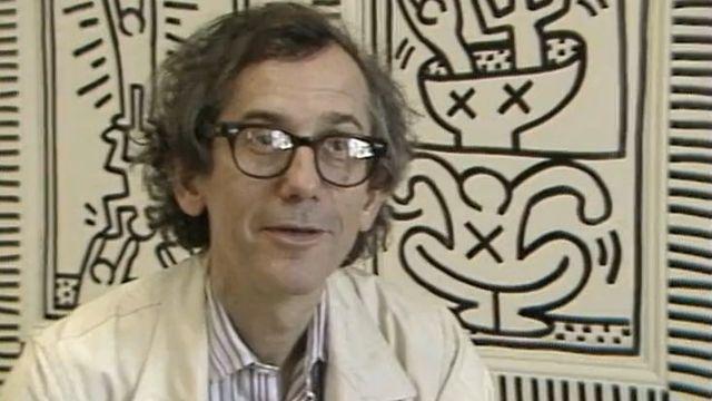 Christo au Gymnase du Bugnon en 1985. [RTS]