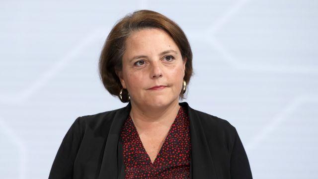 Ada Marra lors du premier tour de l'élection au Conseil des Etats le 20 octobre. [Salvatore Di Nolfi - Keystone]