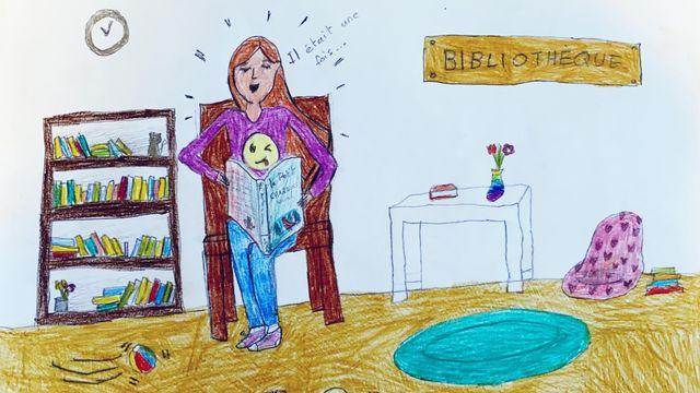 """""""La lecture"""", dessin réalisé par Jenny. [Jenny]"""